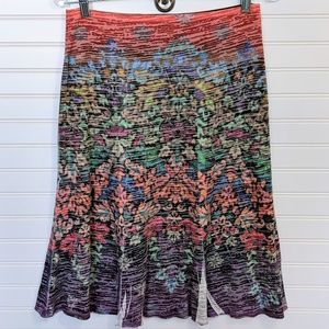 Dresses & Skirts - Multi Color Knit Double Layer Pull on Skirt